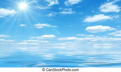 Beautiful Sea On Sunny Day - Beautiful sea horizon,...