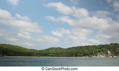 Beautiful sea sanctuary - A shot of a beautiful island and a...