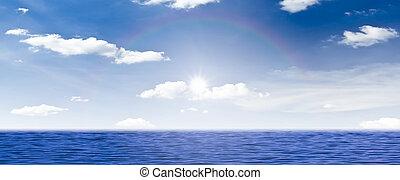 beautiful sea sky and sunset