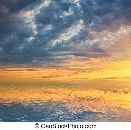 Beautiful sea sunset