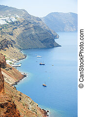 Beautiful sea view from Santorini