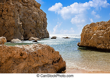beautiful sea view of Ras Mohammed in Egyp