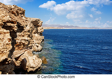 beautiful sea view of Ras Mohammed in Egypt