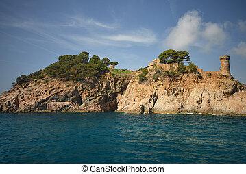 beautiful sea view on the Spanish coast