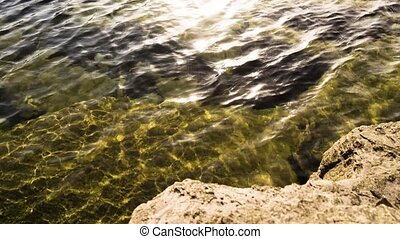 Beautiful sea water and stones