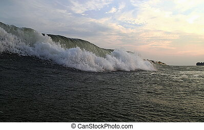 Beautiful Sea Wave. Evening. Vietnam.