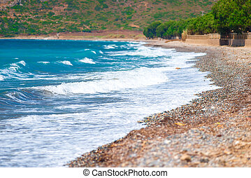 beautiful sea waves of the Mediterranean Sea