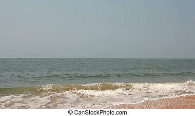 Beautiful sea waves on the beach