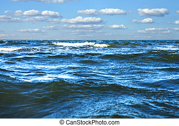 Beautiful sea with blue sky