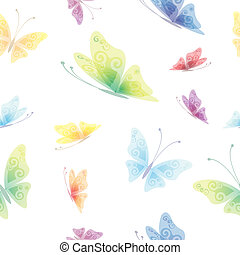 Beautiful seamless background, butterfly pattern