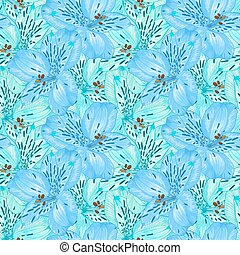 Beautiful seamless background with alstroemeria flower....