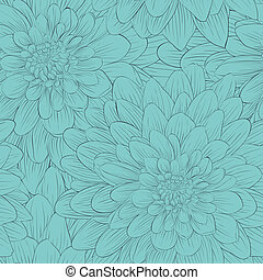 Beautiful seamless background with blue flowers.