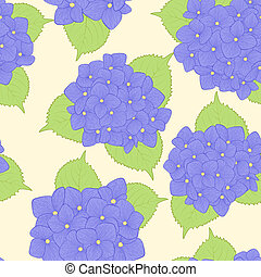 seamless background with flower hydrangea .