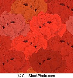 Beautiful seamless background with flowers.