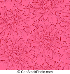 Beautiful seamless background with flowers. Hand-drawn ...