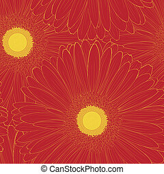 Beautiful seamless background with gerbera flower