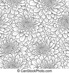 Beautiful seamless background with monochrome black and...