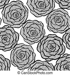 Beautiful seamless background with lace roses