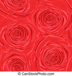Beautiful seamless background with red roses.