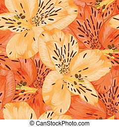 Beautiful seamless background with yellow and orange...
