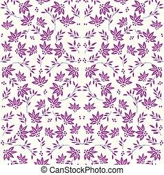 Beautiful seamless Damask floral pattern background.