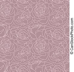 Beautiful seamless floral vector background with roses.