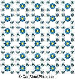 Beautiful seamless flower pattern on white background, spirograph