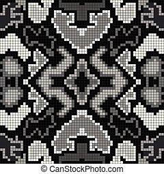 beautiful seamless pattern monochrome pixels vector illustration