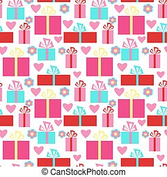 Beautiful seamless pattern Valentin