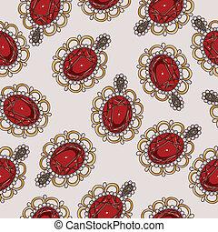 Beautiful seamless pattern with fashion jewelry