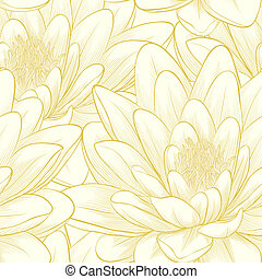 seamless pattern with lotus flowers. - Beautiful seamless...