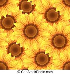 Beautiful seamless pattern with sunflowers.eps
