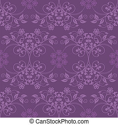 Beautiful seamless purple wallpaper vector illustration