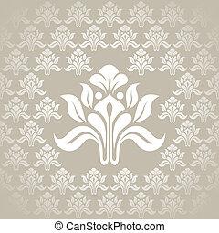 Beautiful seamless silver wallpaper