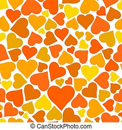 Beautiful seamless vector pattern with hearts.