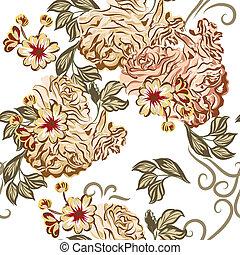 Beautiful seamless vector wallpaper