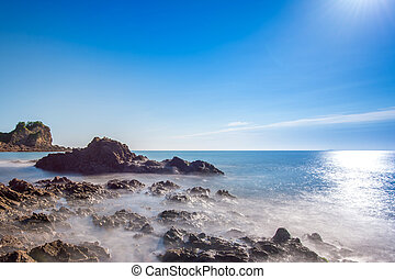 Beautiful seascape and blue sky.