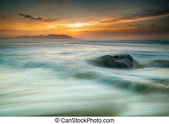 Beautiful seascape at sunset.