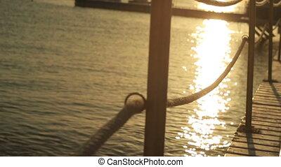 Beautiful seascape in Egypt on sunset