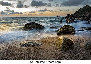 beautiful seascape of koh tao island southern of thailand