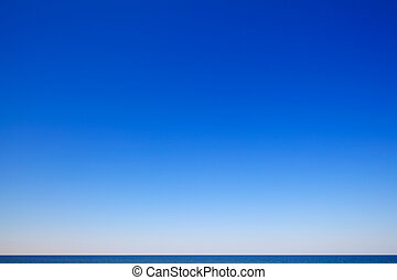 Beautiful seascape with blue sky