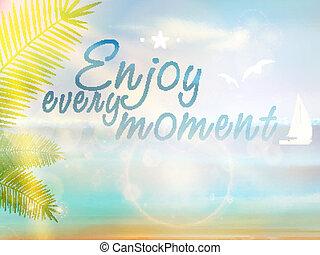 Beautiful Seaside View Poster. EPS10