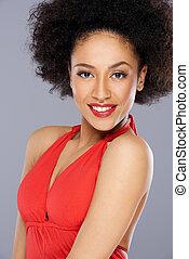 Beautiful seductive African American woman