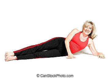 Beautiful Senior Fitness Instructor