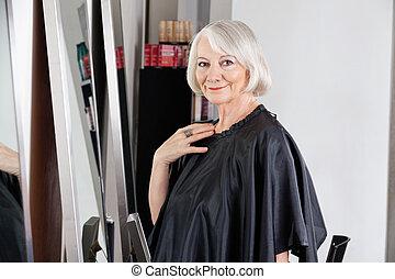 Beautiful Senior Woman At Hair Salon