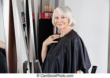 Beautiful Senior Woman At Hair Salon