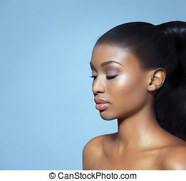 Beautiful Serene Woman - Portrait of beautiful serene ...