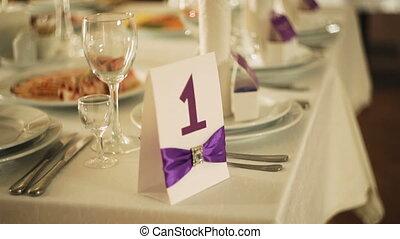beautiful serving exquisite Elegant wedding table Banquet...