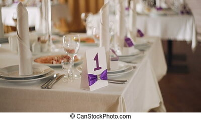 beautiful serving exquisite Elegant wedding table Banquet...