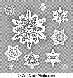Beautiful set of snowflakes